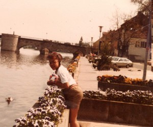 Me on the Rheine River at 8 years old