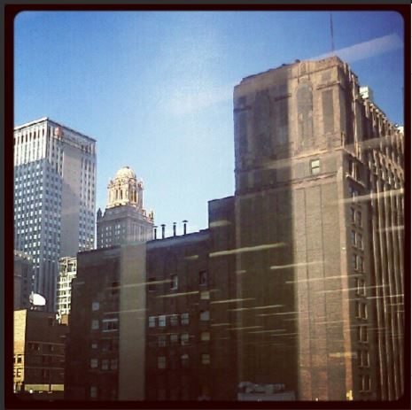 the view from Daley Center, Chicago