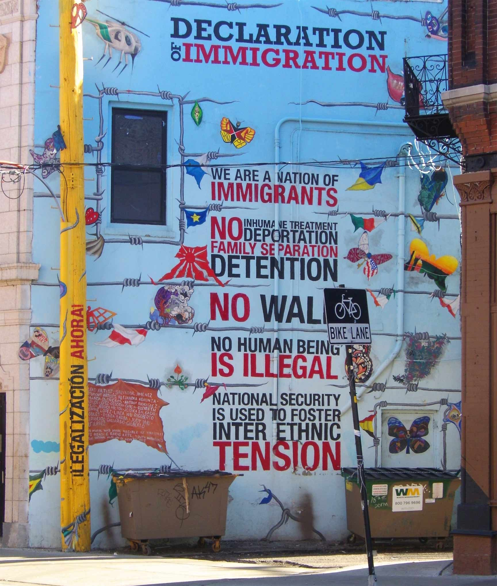 Pro-immigration Mural